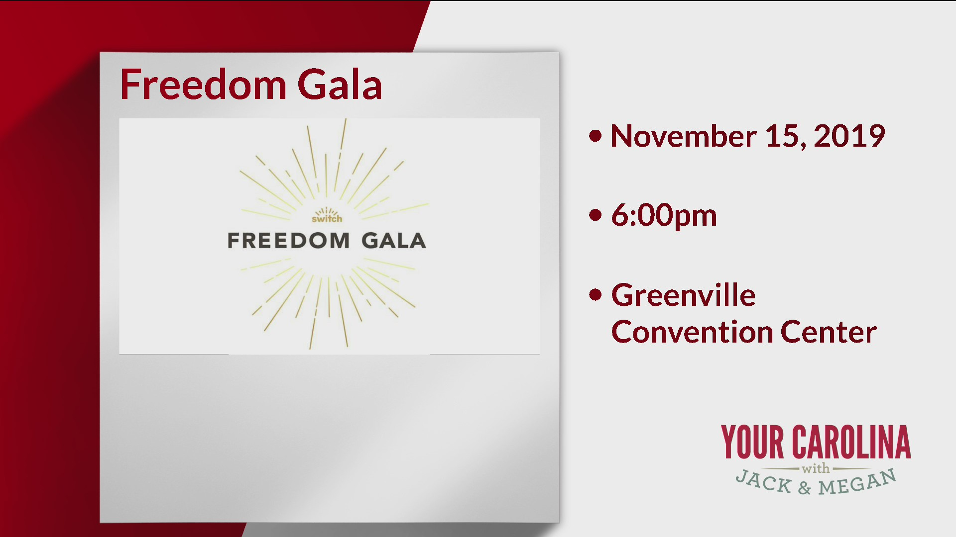 SWITCH's Fourth Annual Freedom Gala