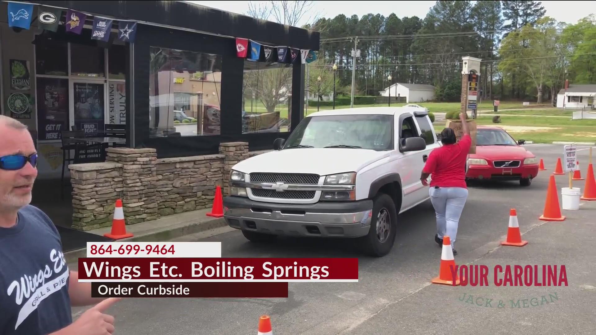 Order Curbside At Wings Etc. Boiling Springs