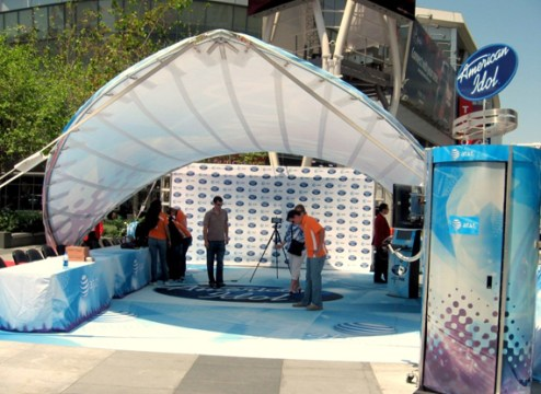 WSSL Sun Shade Structures  Sun Shade Tents and Sun Shade Tensile         Arabesque Canopy  Portable Shade Structure for American Idol Corporate  Event