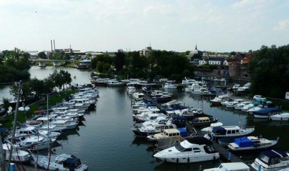 Luchtfoto Jachthaven De Oude Horn