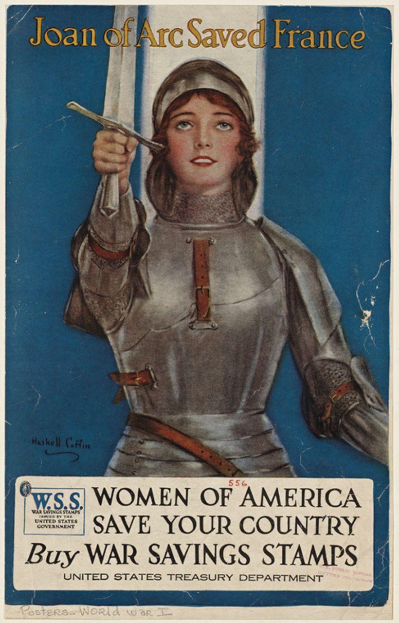 'Joan of Arc Saved France,' 1918