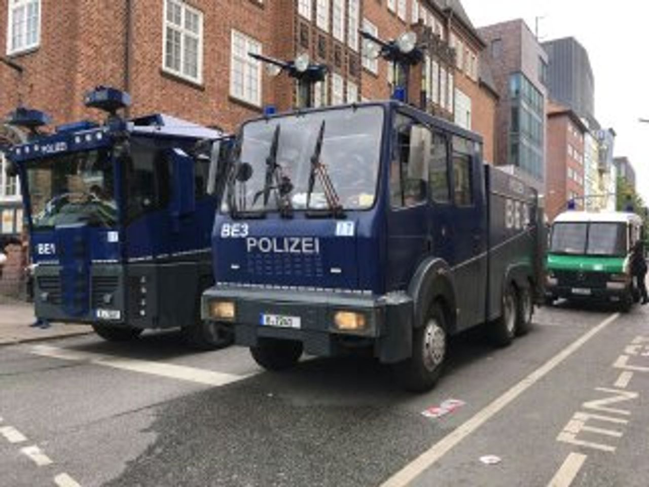 Police water cannons