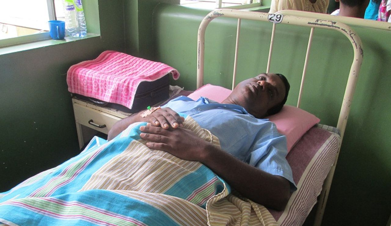 Anura, who suffered a heart attack, in hospital