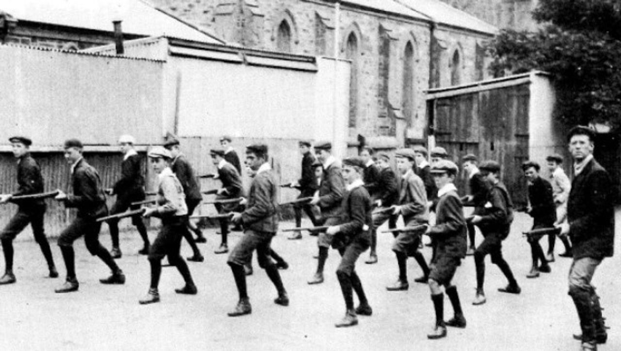 Pulteney Grammar School, South Australia, cadet unit training, circa 1911