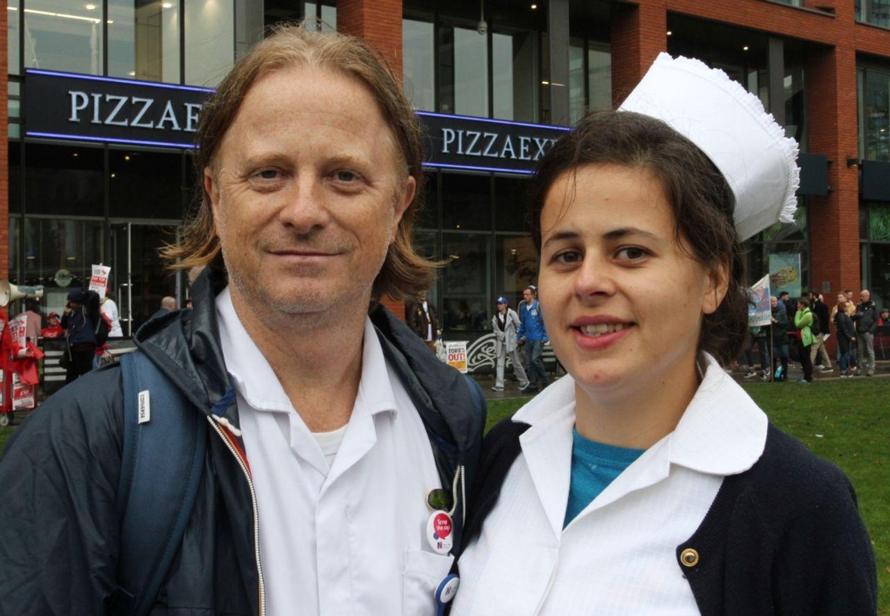 Paul and Sarah, Manchester anti-austerity demonstrators