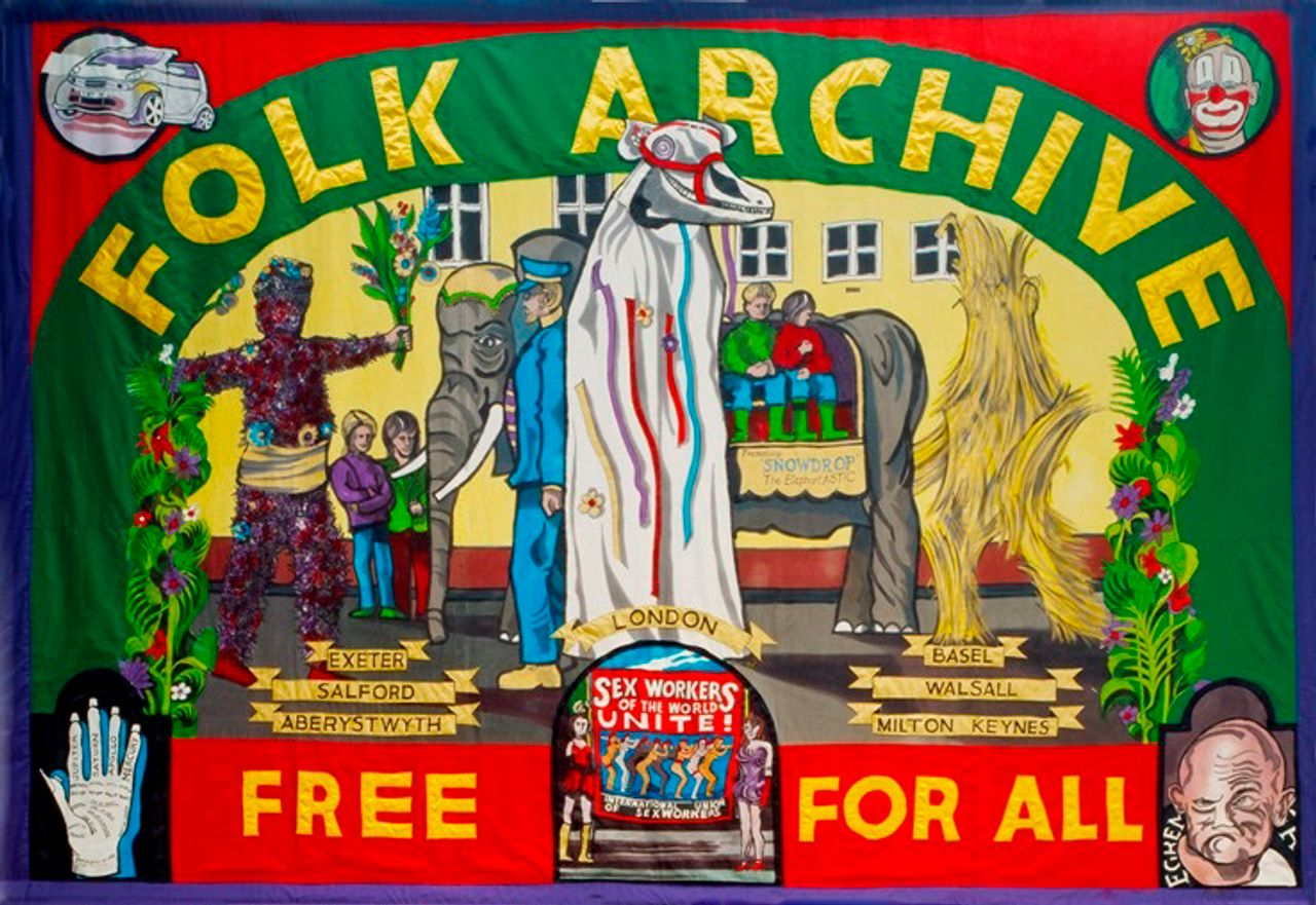 Jeremy Deller and Alan Kane The Folk Archive 2005 Banner by Ed Hall ©The Artists, Courtesy the British Council Collection