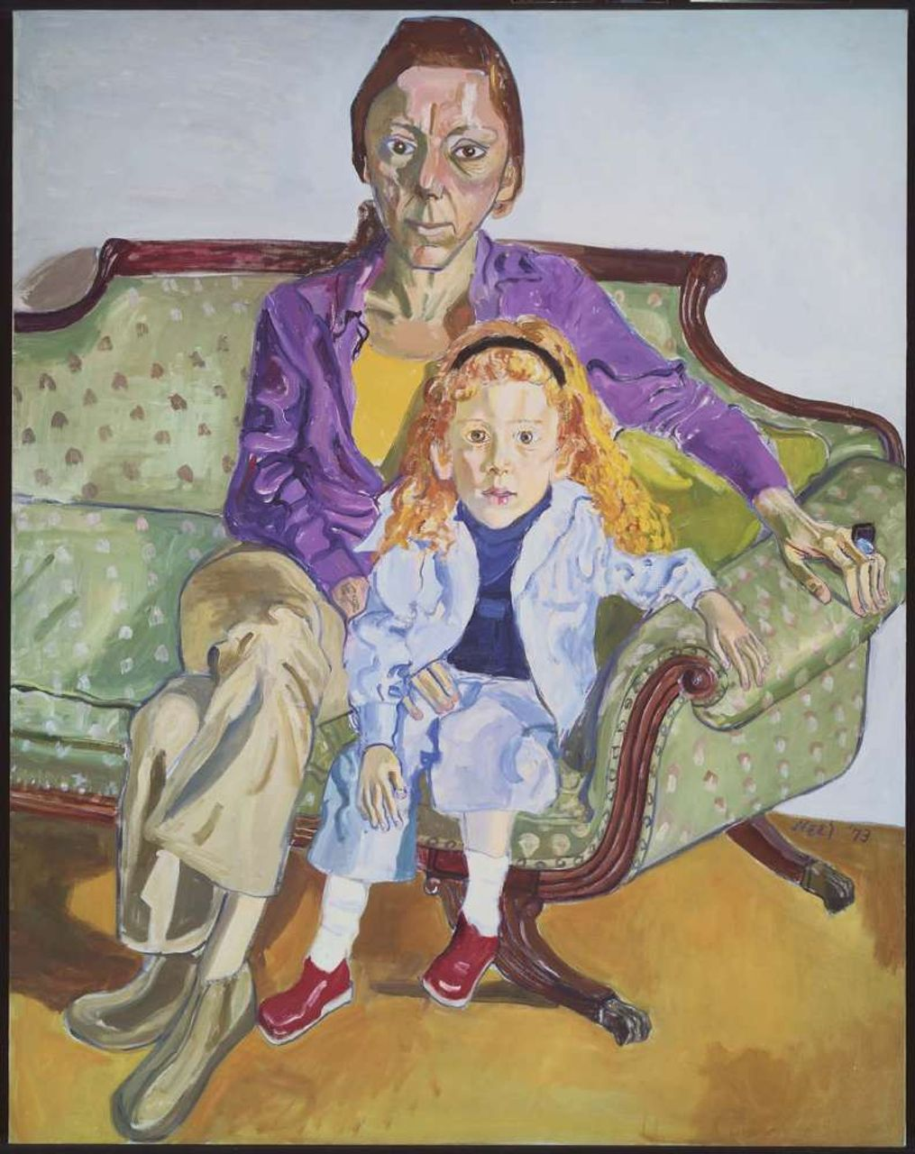 Linda Nochlin and Daisy, Alice Neel (1973)