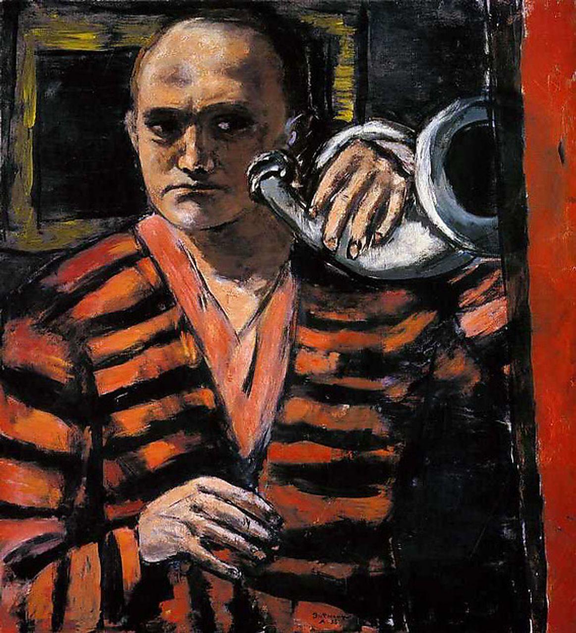Max Beckmann, Self-Portrait with Horn (1938)