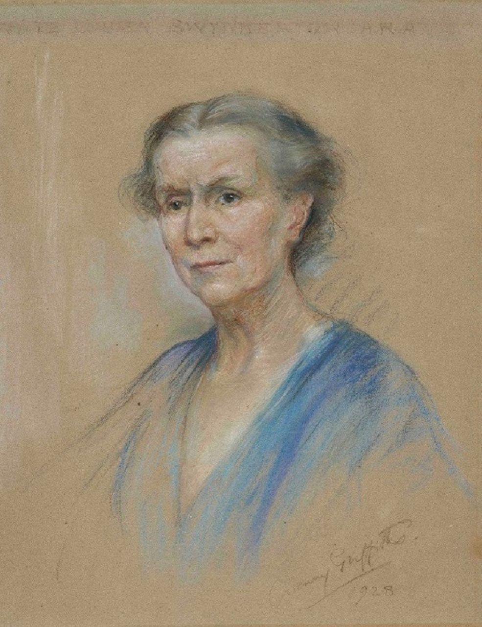 Mrs L Swynnerton, 1928, by Gwenny Griffiths, courtesy of Manchester Art Gallery