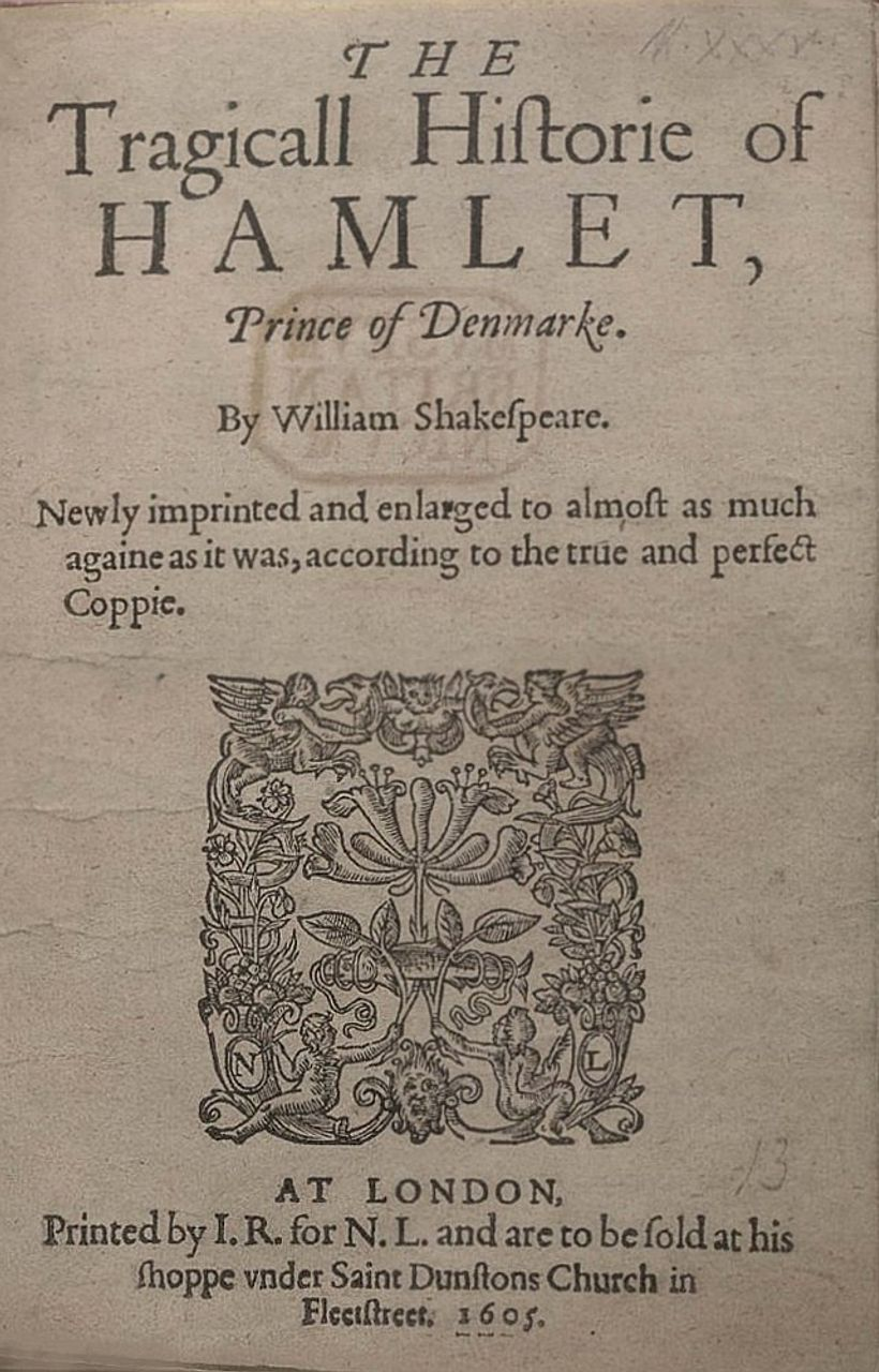Shakespeare's Hamlet, 1605 edition