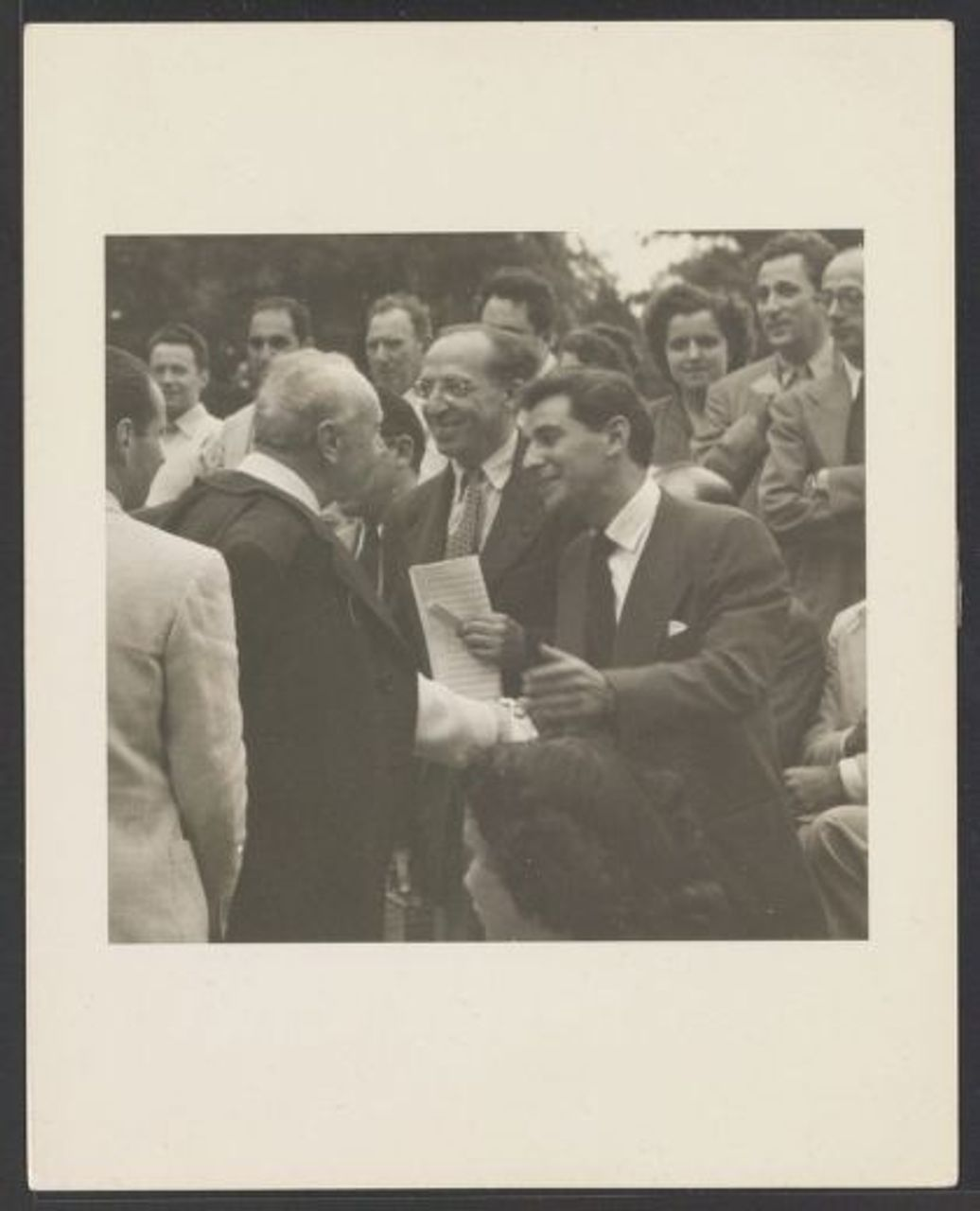 Copland, Koussevitzky, and Bernstein at Tanglewood, 1941