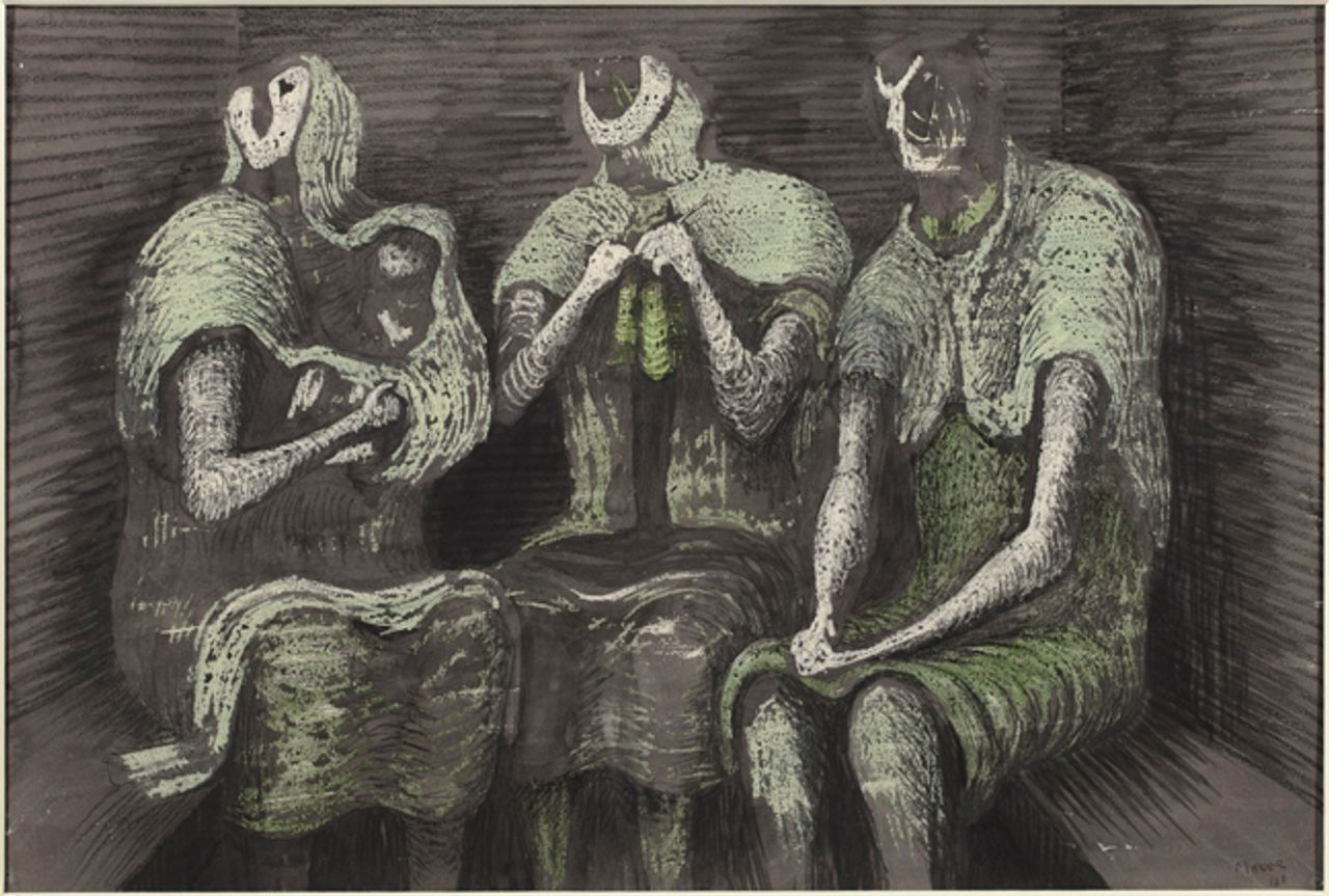 Henry Moore, Three Fates (1941) © The Henry Moore Foundation. All Rights Reserved, DACS / SODRAC (2013)