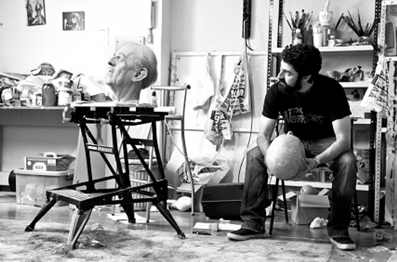 Eugenio Merino in his studio [Photo: Juan Barte]