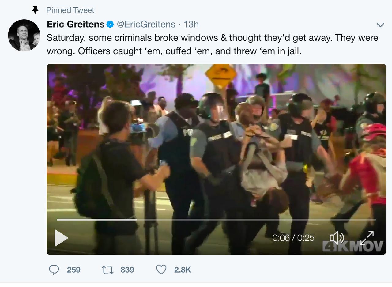 Greitens' tweet