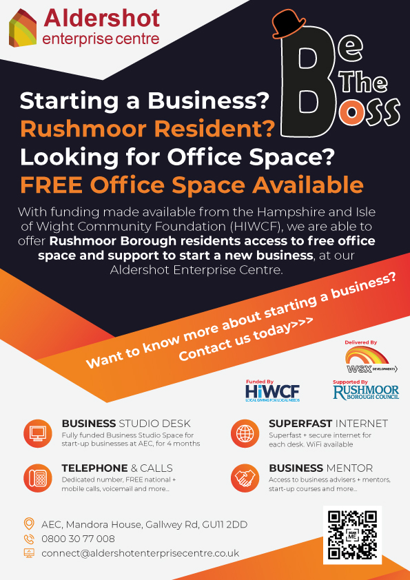 Be The Boss free office space in Rushmoor