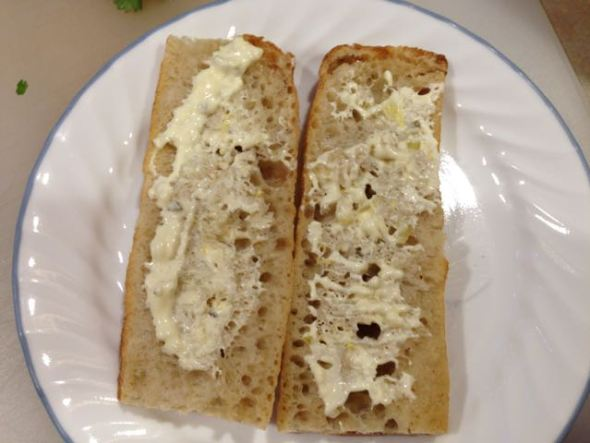Slices of bread, mayo spread, rhyme said, right Fred?