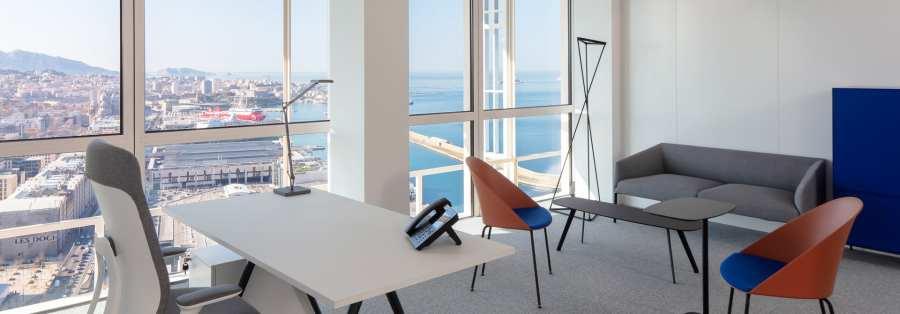 Location de bureau vue mer à Marseille Tour La Marseillaise - Sky Center