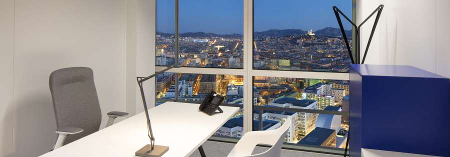 Location de bureau entreprise à Marseille Tour La Marseillaise - Sky Center