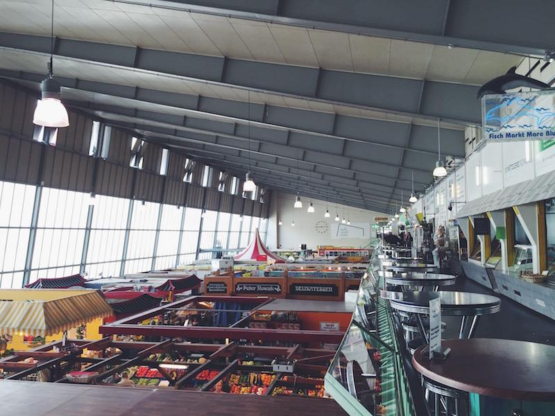 Die Kleinmarkthalle in Frankfurt von oben