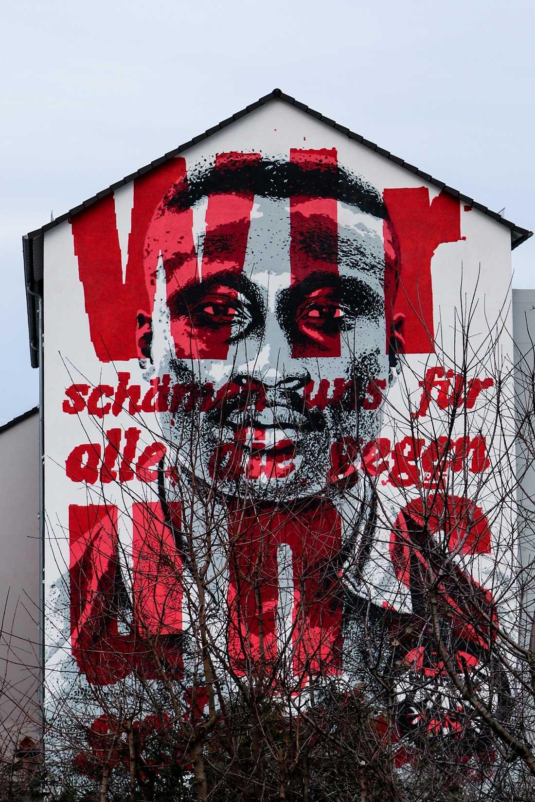 Street Art Frankfurt. Tony Yeboah Haus.