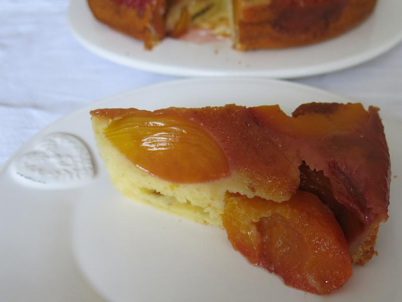 Amarettini pfirsich kuchen