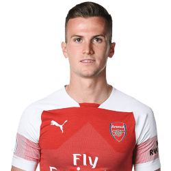 Picture of the 1.89 m (6 ft 2 in) tall English Centre Back of Arsenal