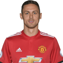 Picture of the 1.94 m (6 ft 4 in) tall Serbian defensive midfielder of Manchester United