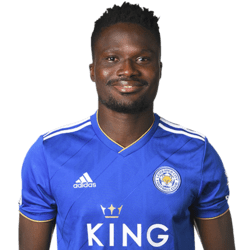 Picture of the 1.86 m (6 ft 1 in) tall Ghanaian  defensive midfielder of Leicester City