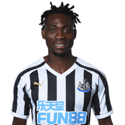 Picture of the 1.64 m (5 ft 5 in) tall Ghanaian winger of Newcastle United