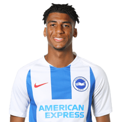 Picture of the 1.86 m (6 ft 1 in) tall Brazilian left back of Brighton & Hove Albion
