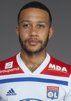 Picture of the 1.76 m (5 ft 8 in) tall Dutch, Ghanaian striker of Olympique Lyonnais
