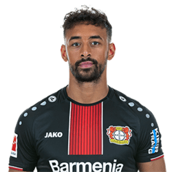 Picture of the 1.83 m (6ft) tall German, Moroccan  right winger of Bayer Leverkusen