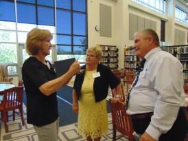 L-R Janice White Brush, Anna Harris Miller and Ron Rahmer