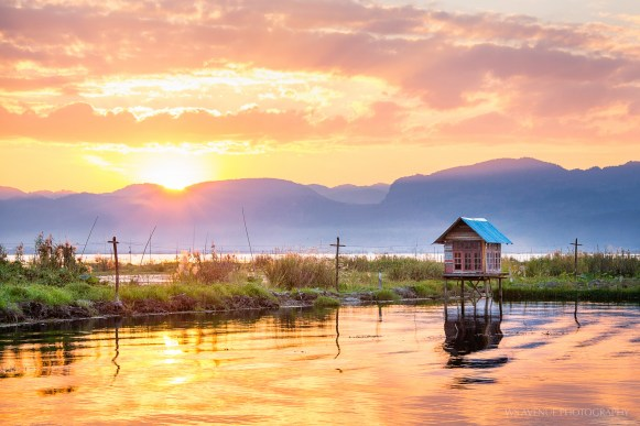 Sunset at Inle Lake