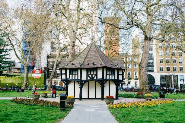 Tudor-style gardener's hut, Soho Square