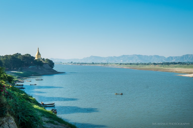 View of the Irrawaddy River, Bagan