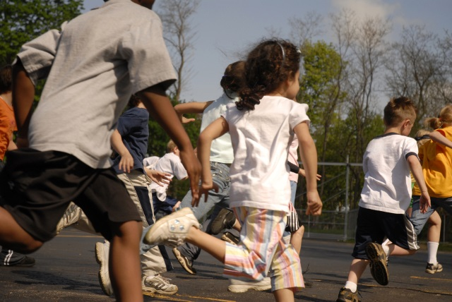 kids children school recess tag playing outside_174937