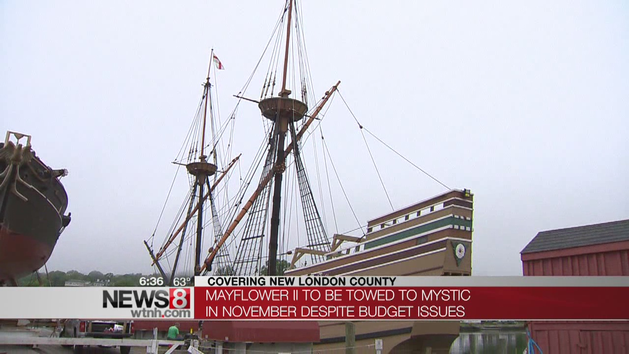 Mayflower II to be towed to Mystic in November