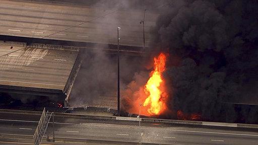 APTOPIX Overpass Collapse Fire_425305