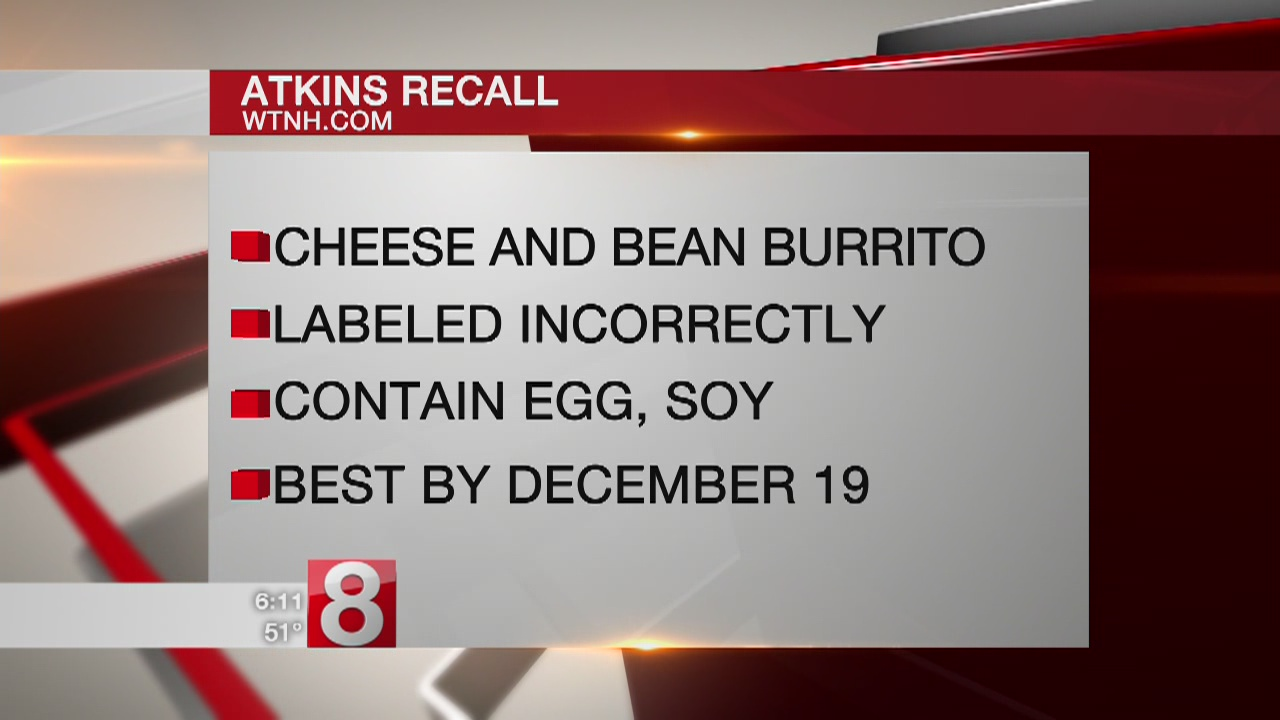 Stop & Shop issues recall of Atkins Burrito & Lay's Potato Chips