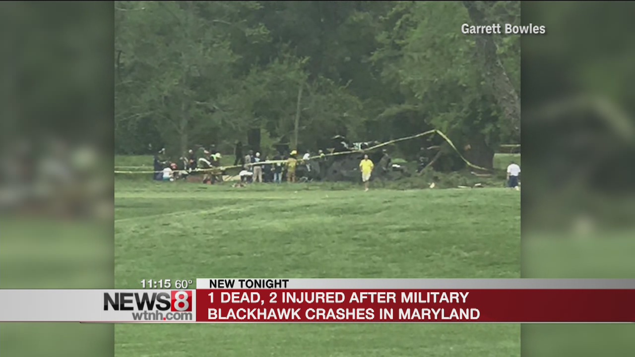 1 killed after Blackhawk crashes at Maryland golf course