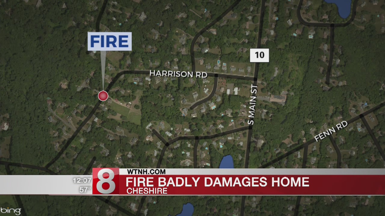 Two burned in overnight fire in Cheshire