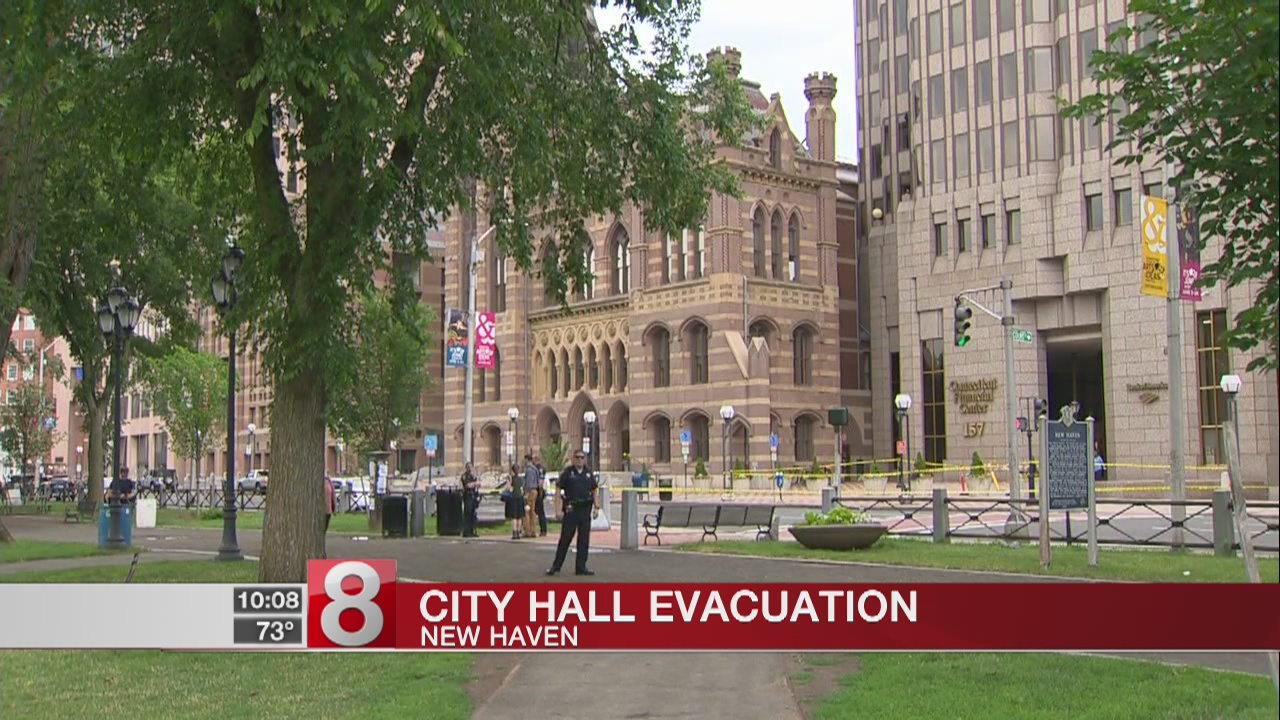 PD clears scene at New Haven City Hall after threat evacuates building