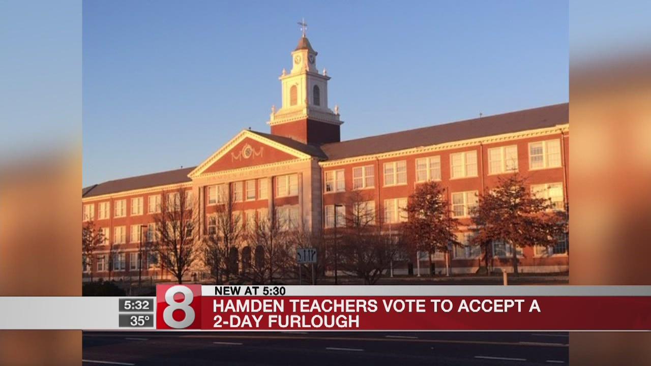 Hamden teachers vote to accept furlough
