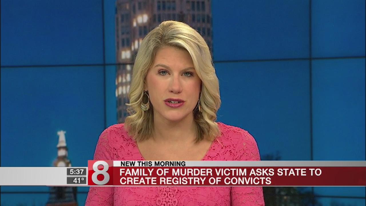 Victim's family seeks registry of people convicted of murder
