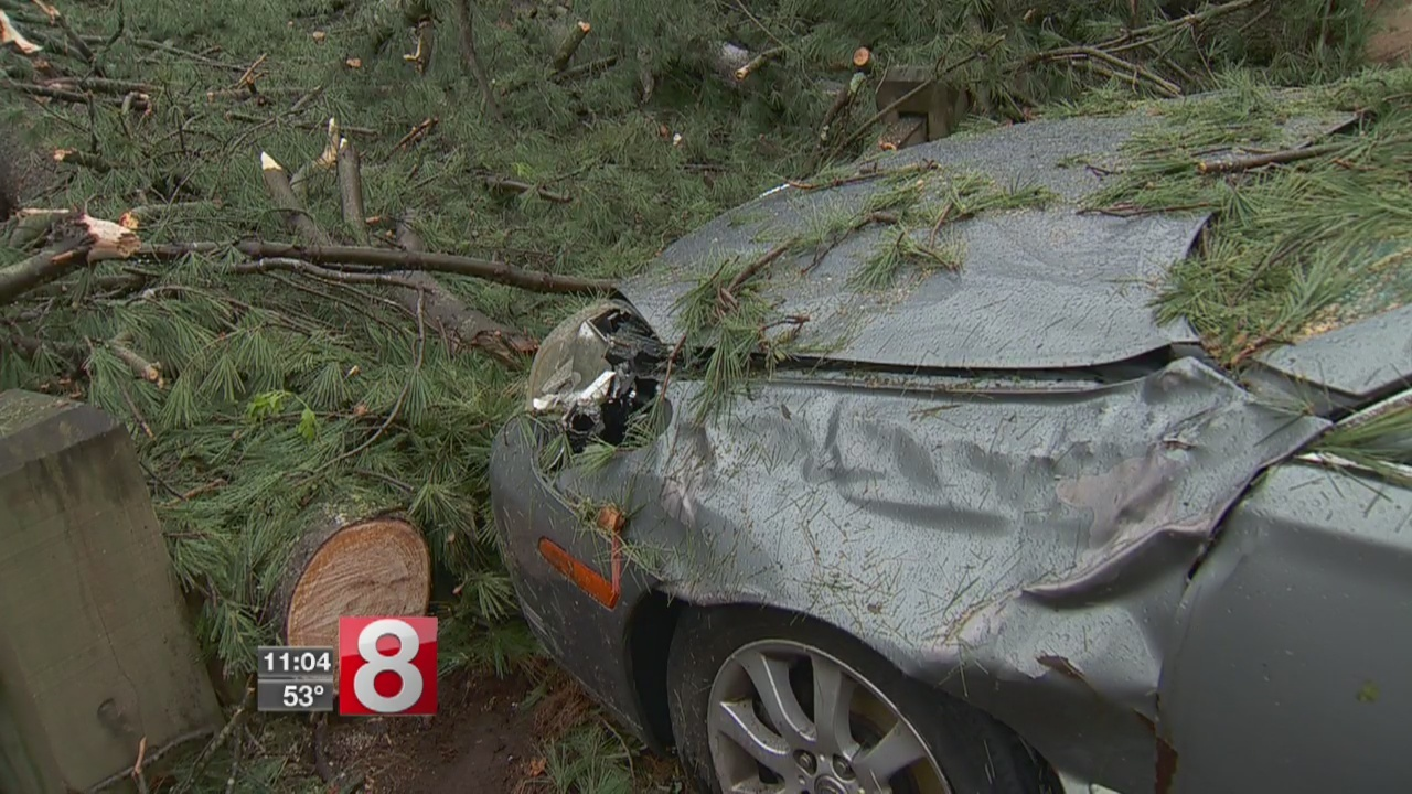Auto shops backed up as cars damaged by storms roll in