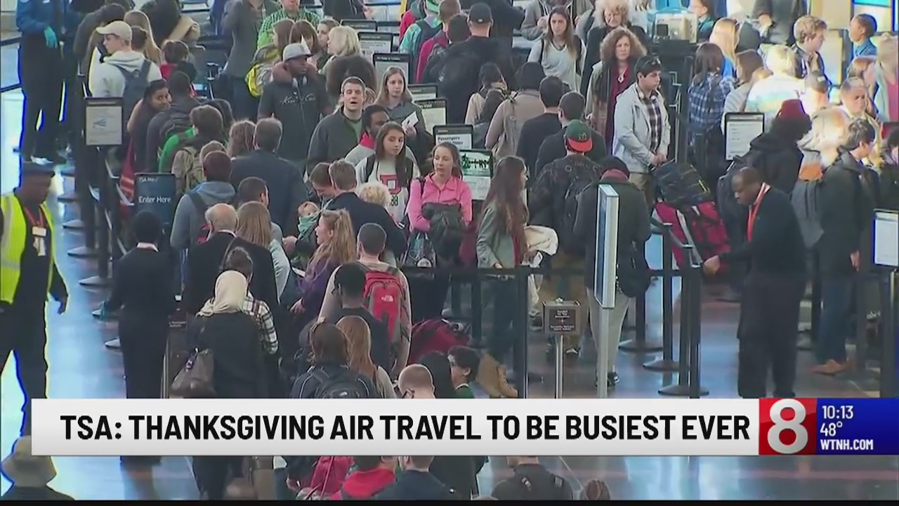 TSA: 2018 expected to be busiest Thanksgiving ever for air-travel