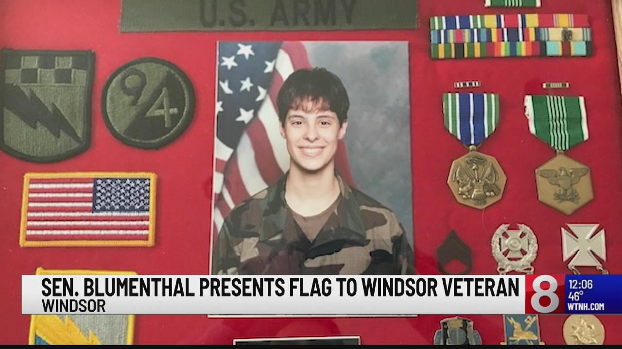 Windsor Veteran honored at the high school, gives advice to students