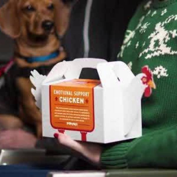 Popeyes at Philadelphia International Airport announces 'Emotional Support Chicken'
