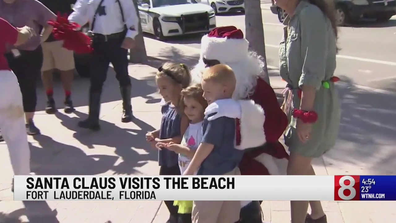 Santa pays a visit to Fort Lauderdale, take a look at this giant gingerbread house!